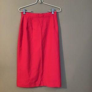 Vintage 80's 90's Hot Pink Pencil Skirt